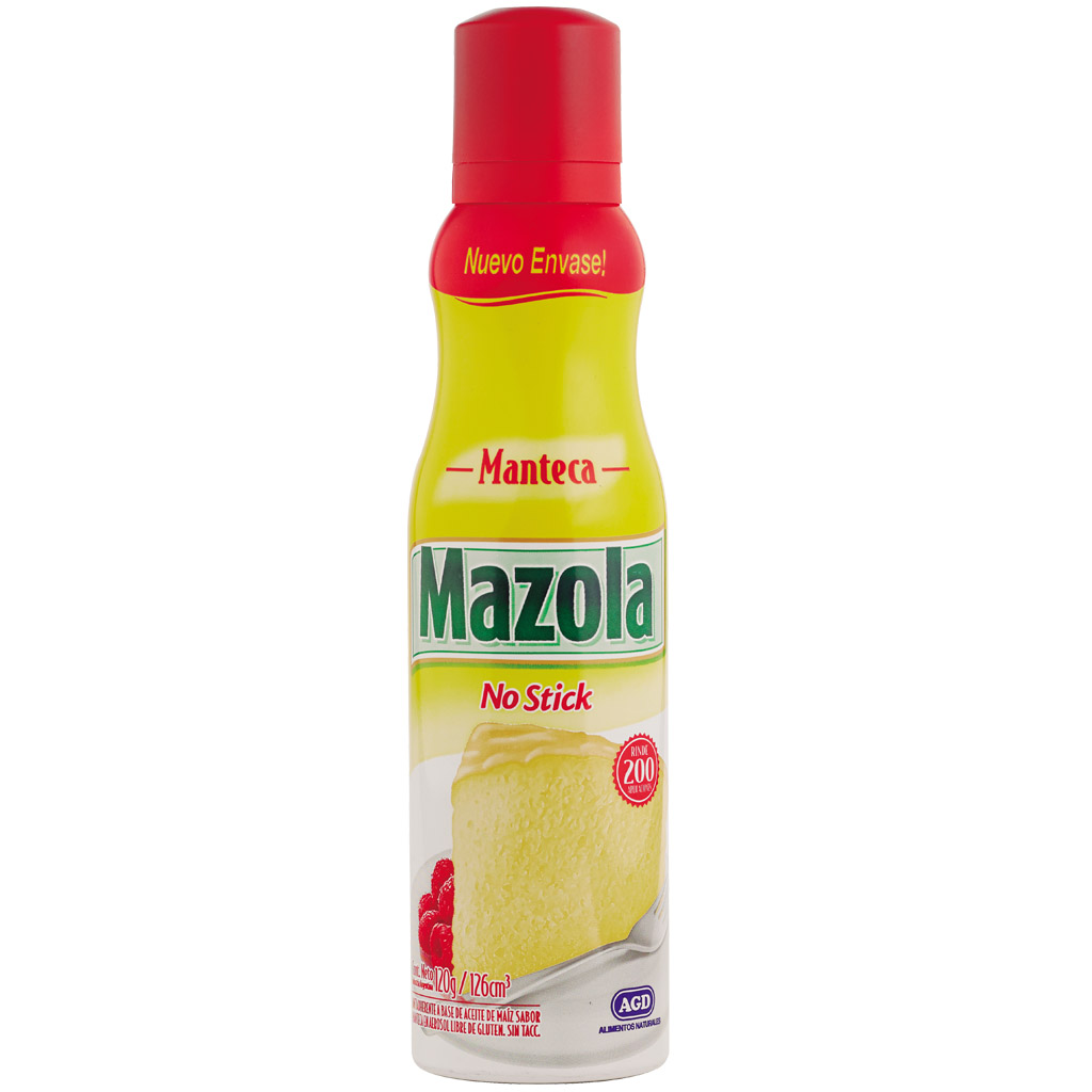 Rocio vegetal manteca Mazola 120 ml